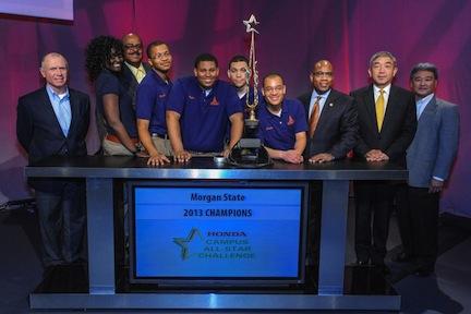 Morgan State students and administrators along with Honda executives.