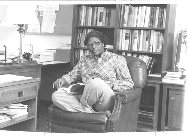 Dr. McNeil at the College of the Holy Cross, 1974
